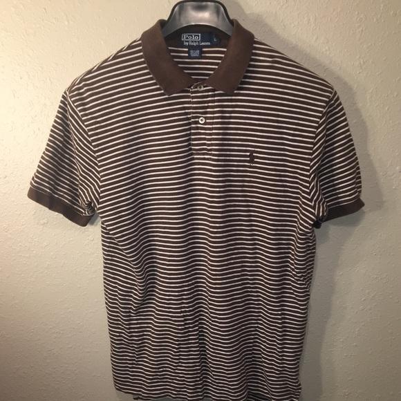 28534a1e5 Vintage Polo Ralph Lauren Brown Striped Mens Large.  M 5b74d80e1e2d2d9b83615b28